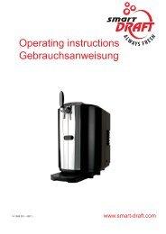 Operating instructions Gebrauchsanweisung - IMI Cornelius
