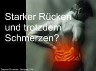 Ein starker Rücken und trotzdem Schmerzen?