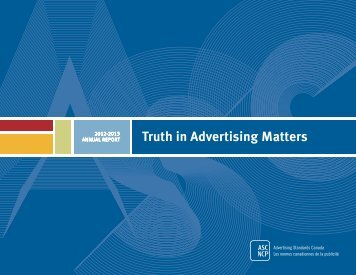 2013 annual report - Advertising Standards Canada
