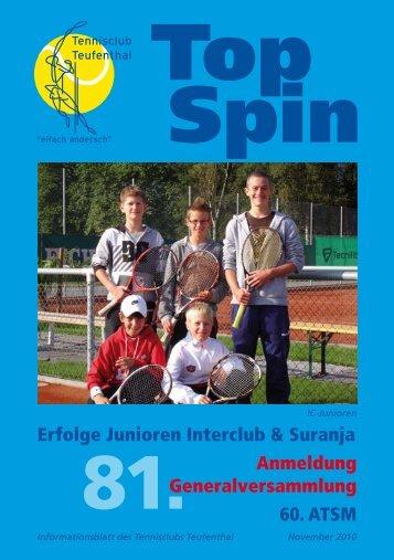 TopSpin 4/10 - Tennisclub Teufenthal