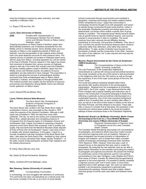 Download Individual Abstracts, M through P - Society for American ...