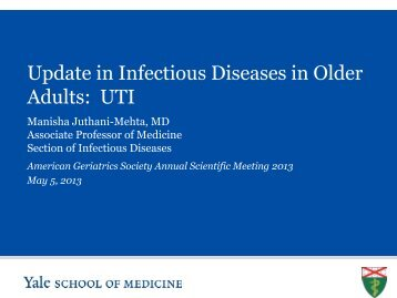 Urinary Tract Infection in Older Adults - American Geriatrics Society