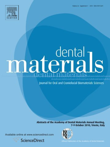 Abstracts of the Academy of Dental Materials Annual ... - IsiRed