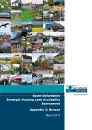Appendix 2 Benson - South Oxfordshire District Council