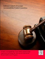 Judicial Council of Georgia Accountability Courts Committee