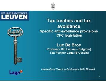 Tax treaties and tax avoidance - Foundation for International Taxation