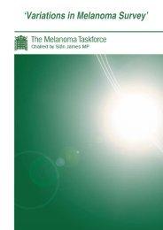 'Variations in Melanoma Survey' - BDNG