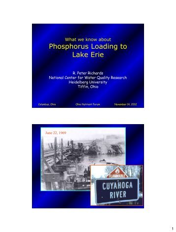 What We Know About Phosphorus Loading to Lake Erie