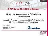 IT Service Management in Öffentlichen Verwaltungen ... - FIT-öV