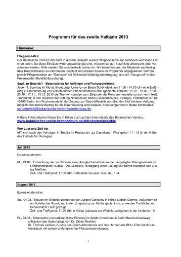 Programm 2. Halbjahr 2013.pdf - Botanischer Verein von Berlin und ...