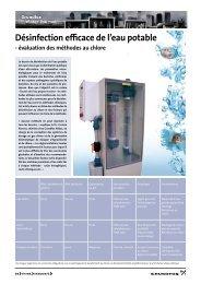 Désinfection efficace de l'eau potable - Grundfos E-Newsletter
