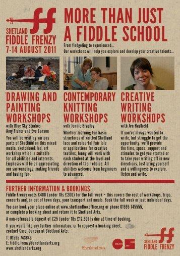 more than just a fiddle school - Shetland Arts Development Agency