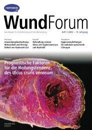 Heft 1/2008 – 15. Jahrgang WundForum - Hartmann