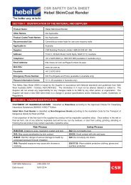 Hebel SkimCoat Render MSDS - CSR