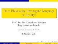 Hume etc. - Daniel von Wachter