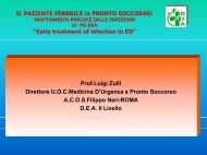 Il paziente febbrile in Pronto Soccorso - Azienda Complesso ...