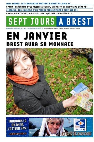 BREST AURA SA MONNAIE - Sept jours à Brest