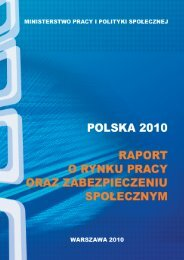 Rynek pracy 2010 - Ministerstwo Pracy i Polityki Społecznej