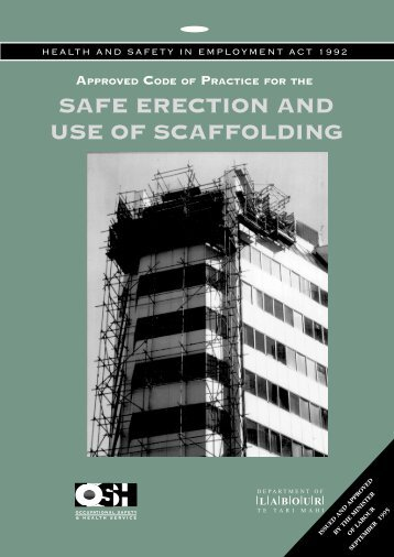 Of for the safe erection and use of scaffolding