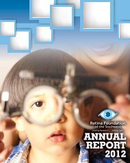 Annual Report 2012.indd - The Retina Foundation of the Southwest