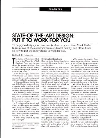STATE -OF.TH E -ART DESIGN : PUT ITTO WORK FOR YOU