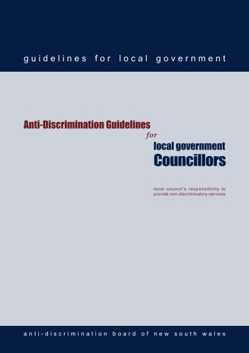 Anti Discrimination Guidelines for Local Government Councilors ...