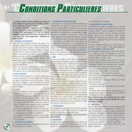 conditions particulieres - Nacel