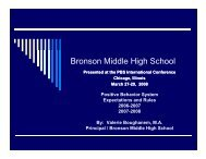 Bronson Middle High School - Florida's Positive Behavior Support ...
