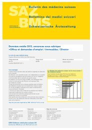 Bulletin des médecins suisses Bollettino dei medici svizzeri ... - EMH