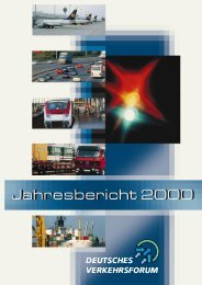 Präsidium des Deutschen Ver - Deutsches Verkehrsforum