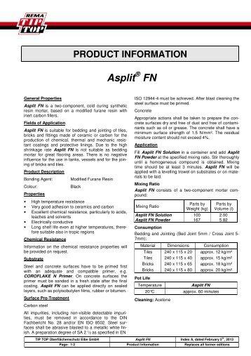 Minimum Gmbh product information tip top oberflächenschutz elbe gmbh