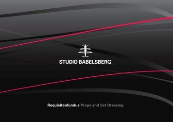 Requisitenfundus Props and Set Dressing - Studio Babelsberg