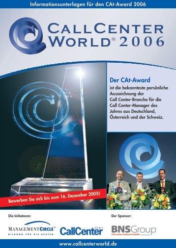 Der CAt-Award - CallCenterProfi