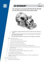 ZF automatic transmission HP 500, HP 590, HP 600 for city buses ...