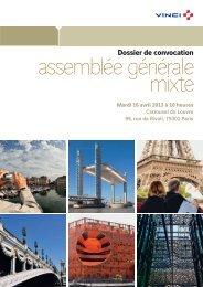 VINCI - Assemblée générale mixte 2013 - Dossier de convocation