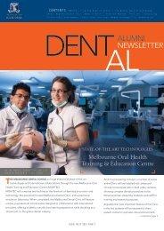 dent-al Issue 1 - 2012 - Melbourne Dental School - University of ...