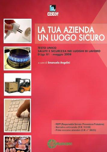 la tua azienda un luogo sicuro - Nuovo CESCOT Emilia Romagna