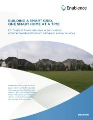 building a smart grid, one smart home at a time - Enablence