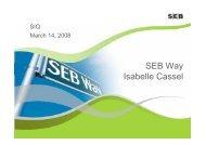 SEB Way Isabelle Cassel