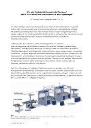 Wie viel Modularität braucht die Montage? - Xpertgate GmbH & Co. KG