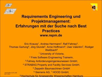 AK RE&PM - Fachgruppe Requirements Engineering