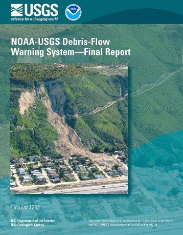 NOAA-USGS Debris-Flow Warning System—Final Report