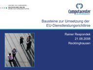 Bausteine zur Umsetzung der EU-Dienstleistungsrichtlinie - Oev ...