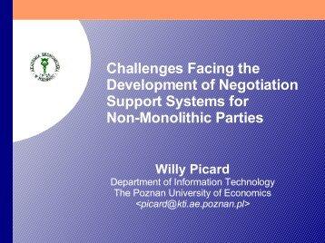 Non-Monolithic Electronic Negotiations