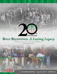 2012 Annual Meeting Program - International Association of Black ...