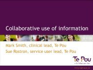 Collaborative Use of Information - Mark Smith and Sue Rostron