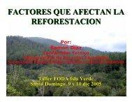 factores que afectan la reforestacion - Ministerio de Medio Ambiente