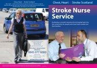 CHSS Stroke Nurse Service - Chest Heart & Stroke Scotland