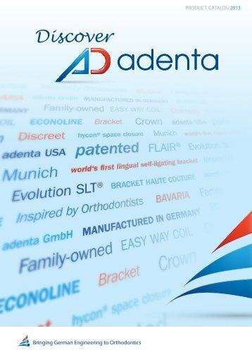 Product catalog 2013 - Adenta