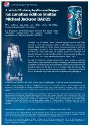 les canettes édition limitée Michael Jackson BAD25 - Prezly